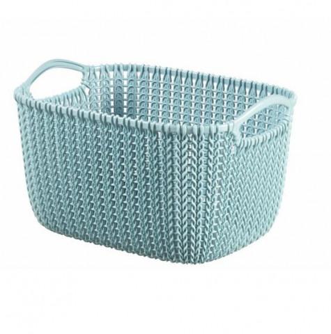 Košík KNIT 3L - modrý