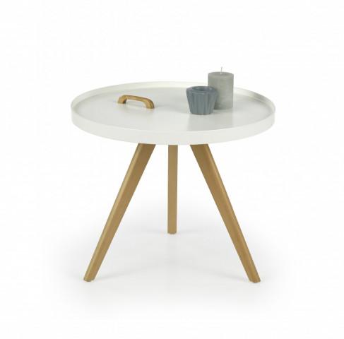 Odkládací stolek Luka - bílý