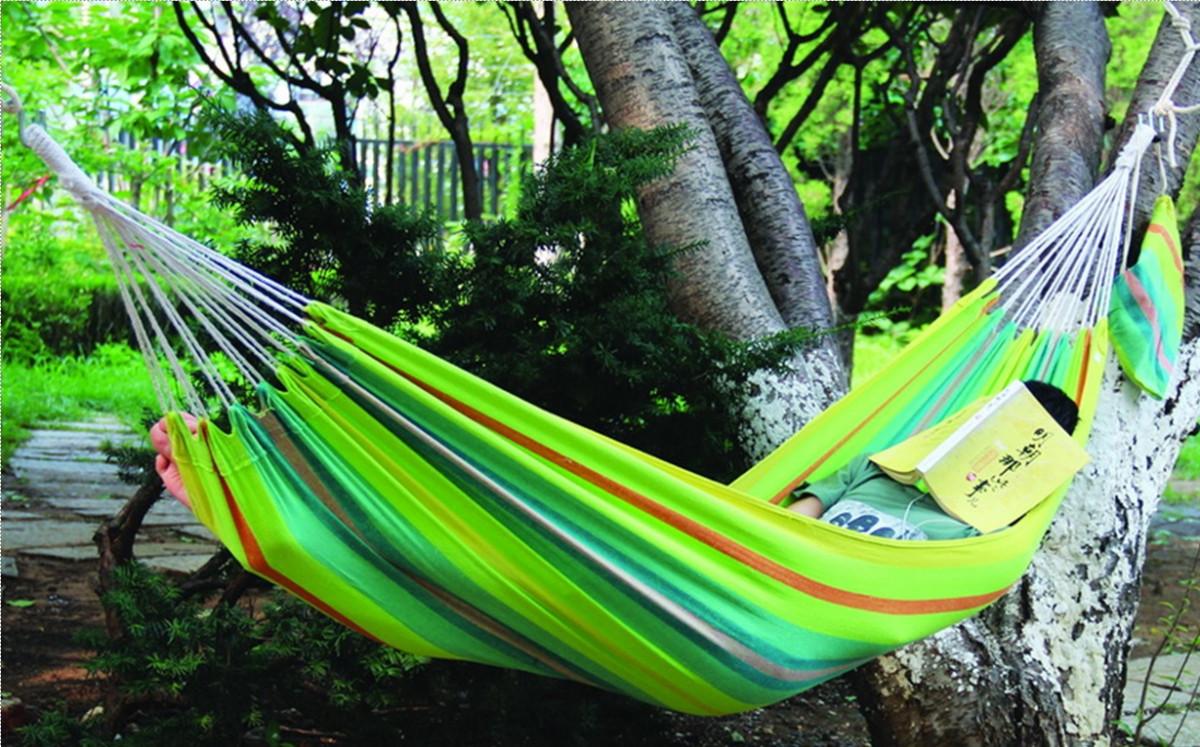 Dimenza Dimenza látková zahradní houpací síť - zelená s pruhy