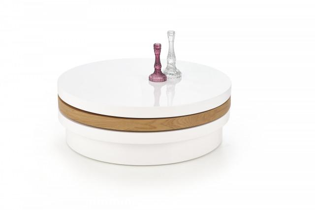 Konferenční stolek Michelle - bílá/dub zlatý č.2