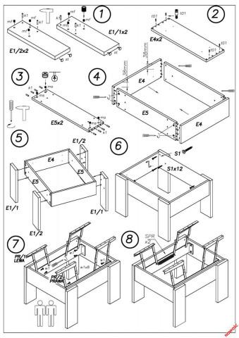 Konferenční stolek Serafin č.4