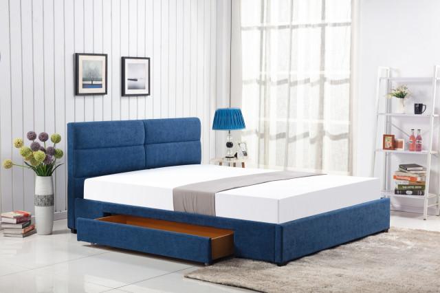 Postel Merida 160x200 modrá