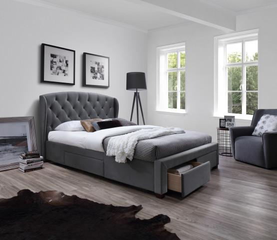 Čalouněná dvoulůžková postel Sabrina 160x200