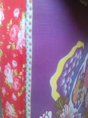 Lavice CHARADE, vzor červený / wenge nohy č.5