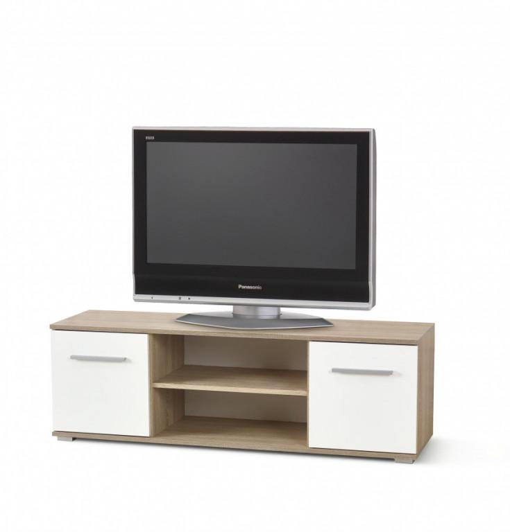 Televizní stolek LIMA RTV-1, dub sonoma / bílá