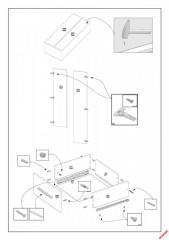 Šatní skříň LIMA S-2, dub sonoma / bílá č.3