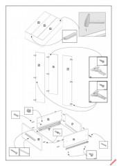 Šatní skříň Lima S-3, dub sonoma / bílá č.3