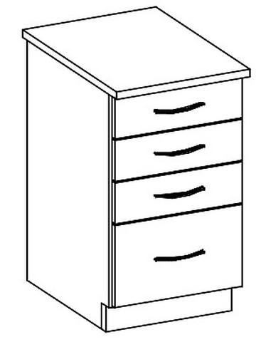 Casarredo D40S/4 dolní skříňka se zásuvkami CHAMONIX II