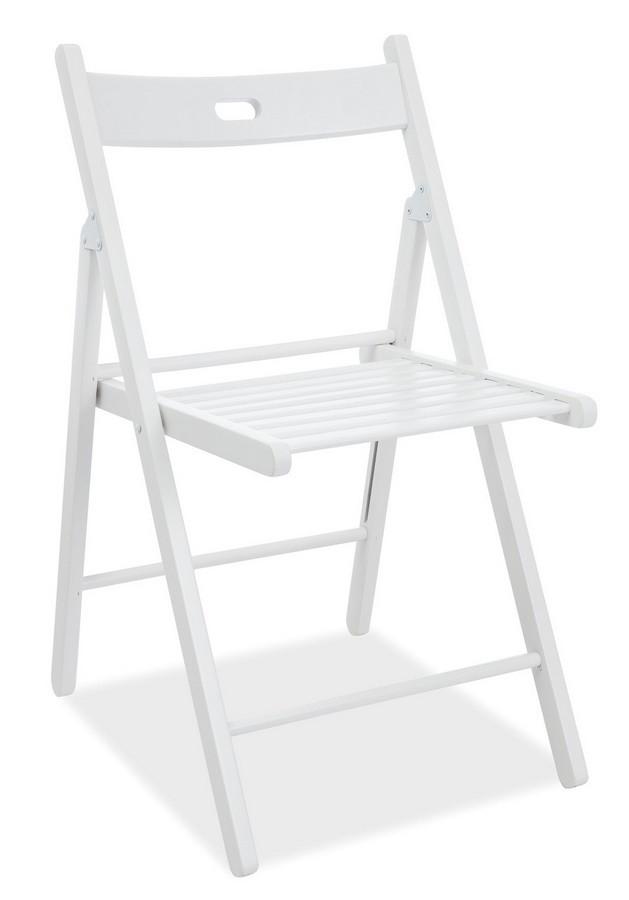 Casarredo Dřevěná skládací židle SMART II bílá