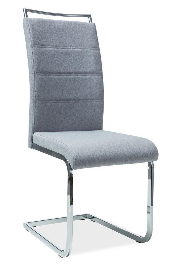 Casarredo Jídelní čalouněná židle H-441 šedá látka