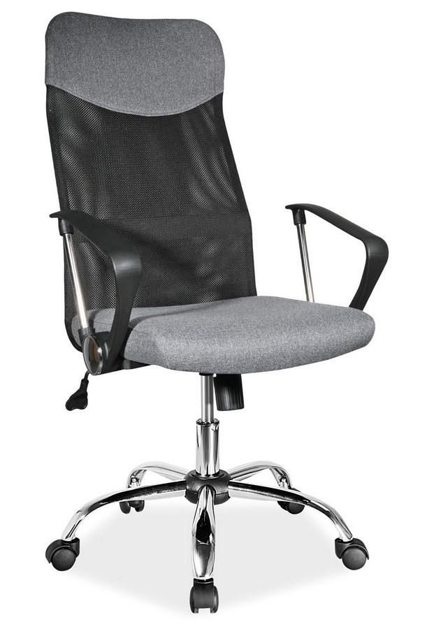 Casarredo Kancelářská židle Q-025 šedá/černá látka
