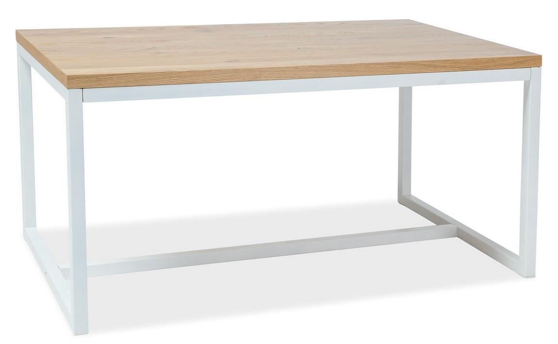 Casarredo Jídelní stůl LORAS A 180x90 dub masiv/bílá