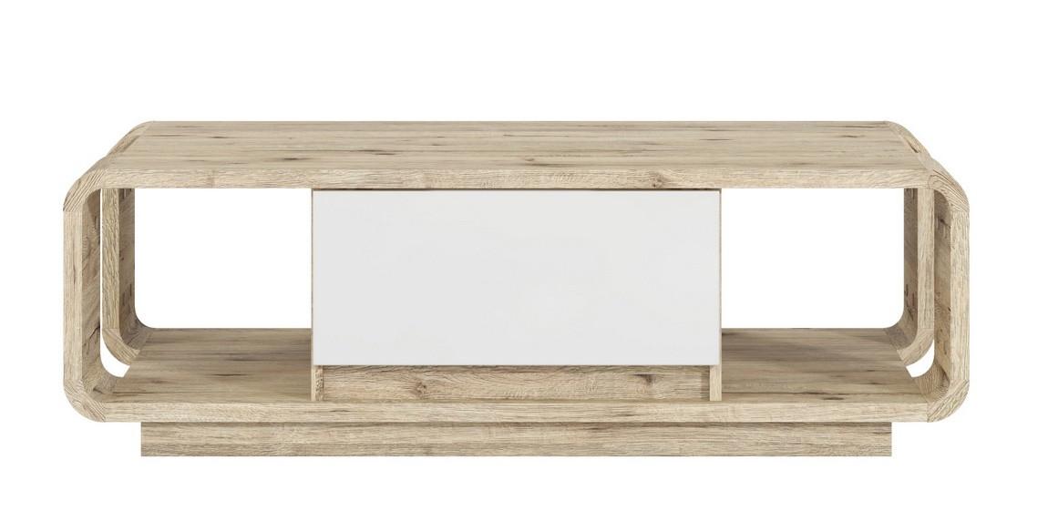 Casarredo Konferenční stolek ROCO dub wellington/bílý lesk