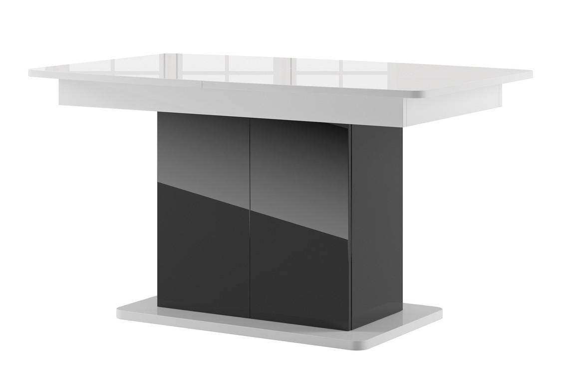Casarredo Jídelní stůl rozkládací STAR 03 černá/bílá lesk