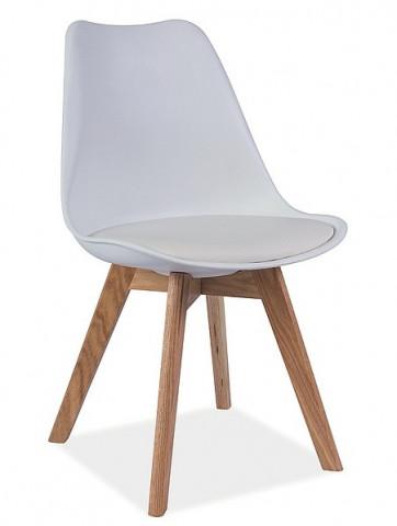 Jídelní židle KRIS bílá/buk