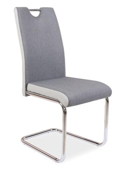 Casarredo Jídelní čalouněná židle H-952 šedá/světle šedá