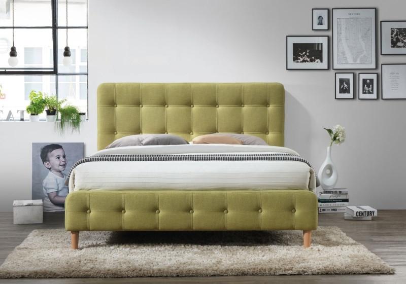 550e88d4a357 Čalouněná postel ALICE 160x200 zelená