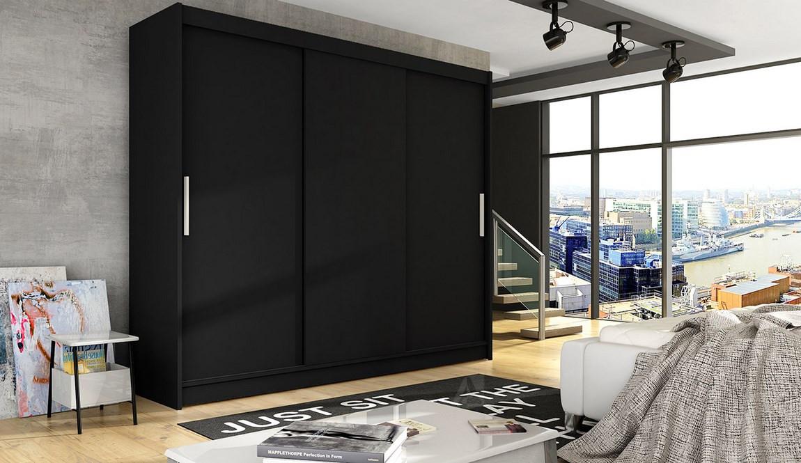 Casarredo Šatní skříň ASTON II černá