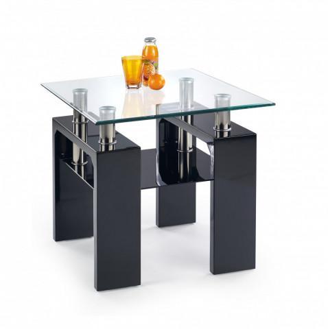 Konferenční stolek Diana H kwadrat, černý lak