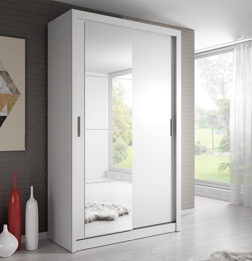 Casarredo Šatní skříň 06 ARTI 120 bílá zrcadlo