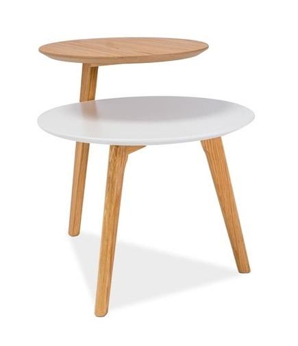 Casarredo Konferenční stolek NEO bílá/dub