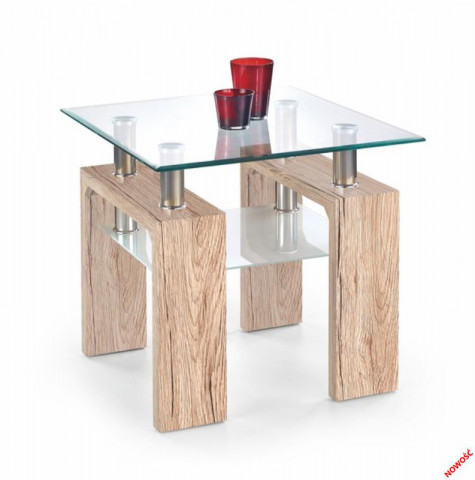 Konferenční stolek Diana H kwadrat, dub san remo