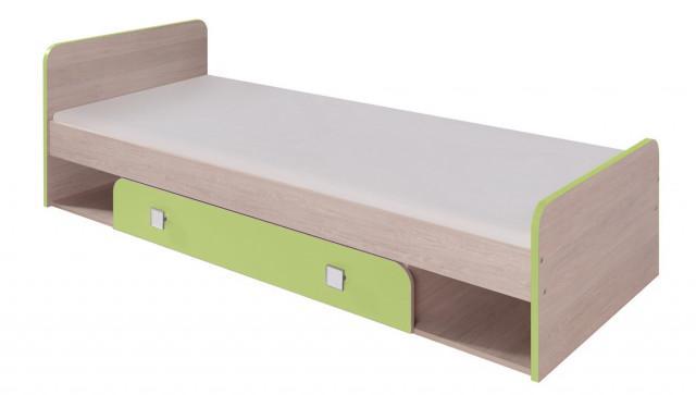 DUO D9 postel 80x200 cm santana/zelená