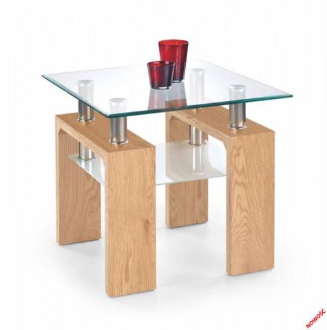 Konferenční stolek Diana H kwadrat, dub zlatý