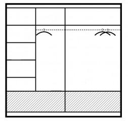Šatní skříň MARSYLIA 203 bílá s osvětlením