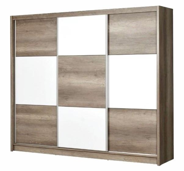 Casarredo Šatní skříň CORDOBA 250 country gray/bílá