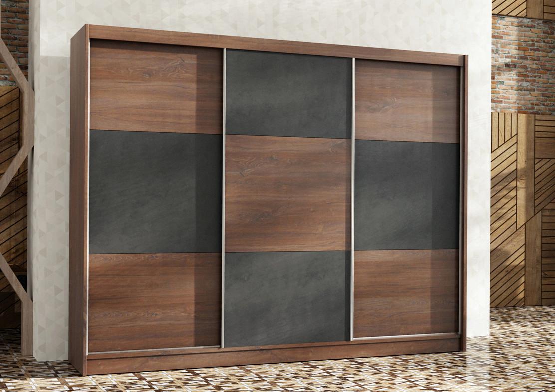 Casarredo Šatní skříň CORDOBA 250 dub sterling/beton