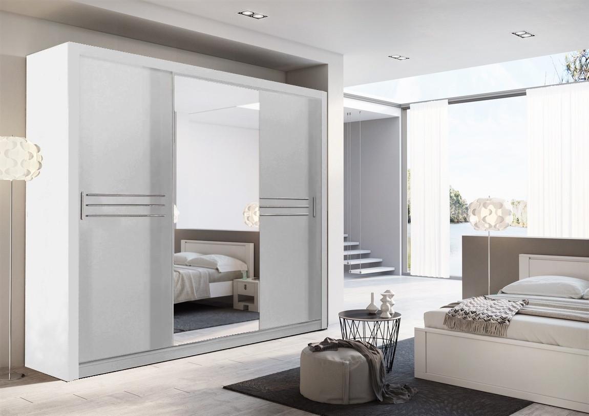Casarredo Šatní skříň IDEA 11 250 zrcadlo bílá