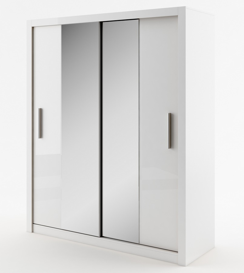 Casarredo Šatní skříň IDEA 03 bílá zrcadlo 180 cm