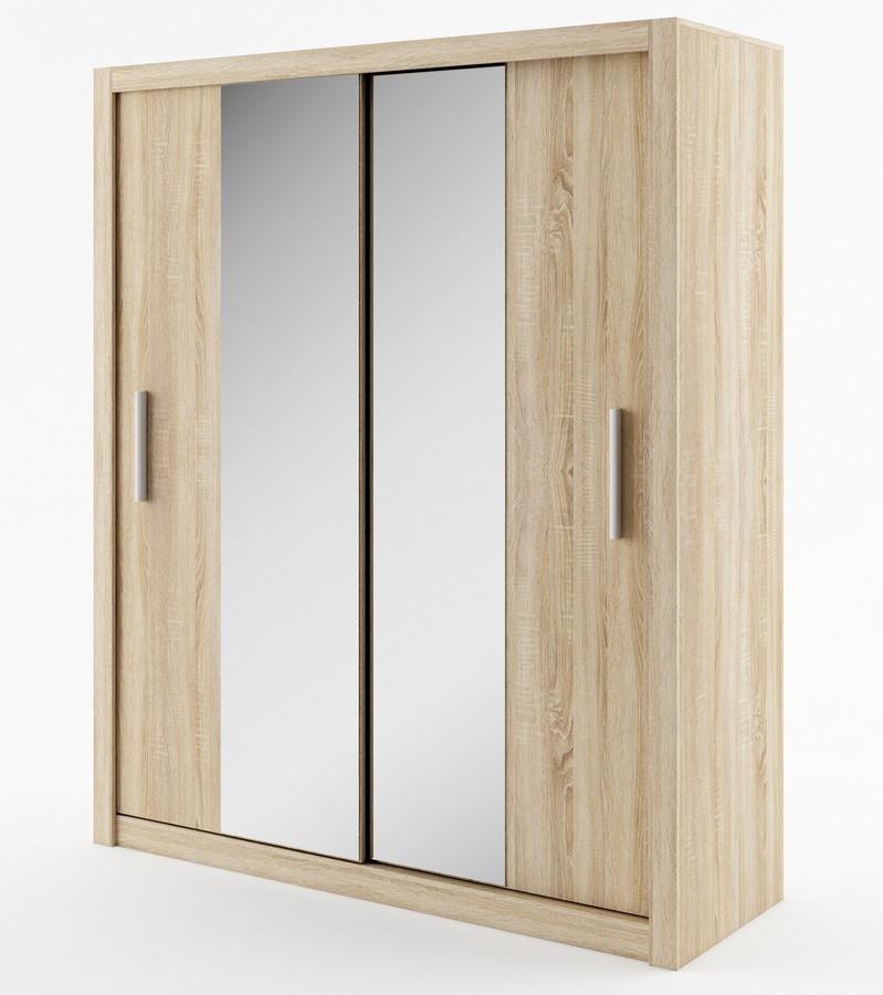 Casarredo Šatní skříň IDEA 03 sonoma zrcadlo 180 cm