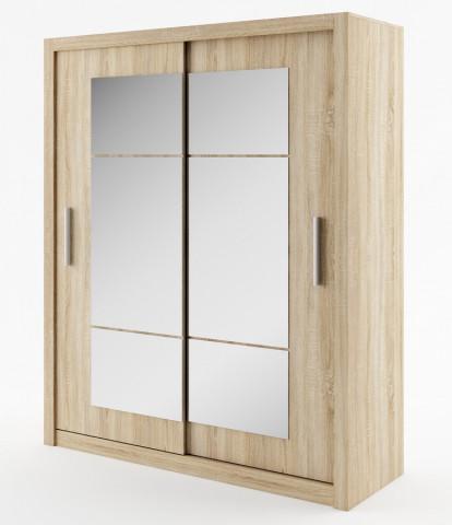 Šatní skříň IDEA 02 sonoma zrcadlo 180 cm