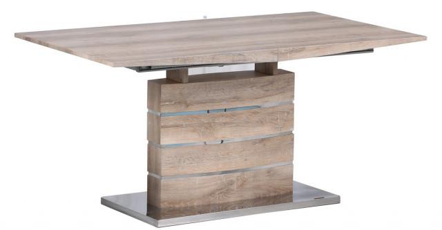 Jídelní stůl rozkládací VENETO-782 sonoma/bílý lesk