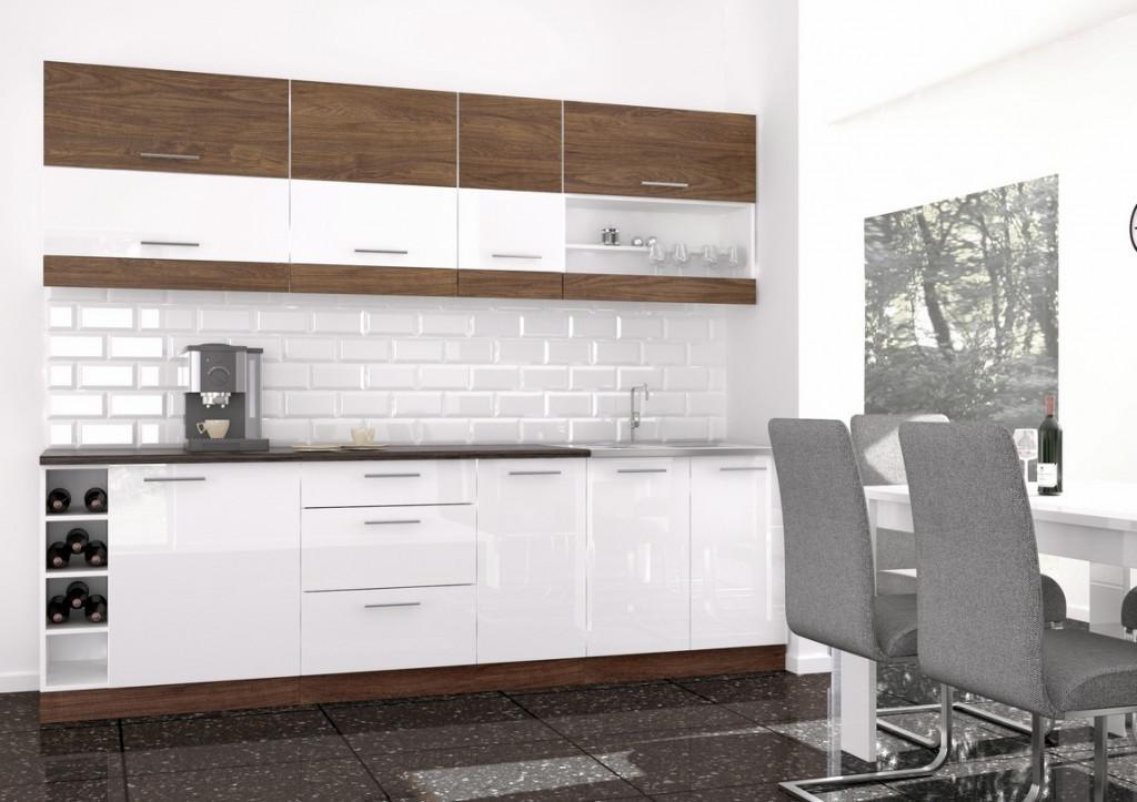 Kuchyně MODO 260 vintage marine/bílý lesk