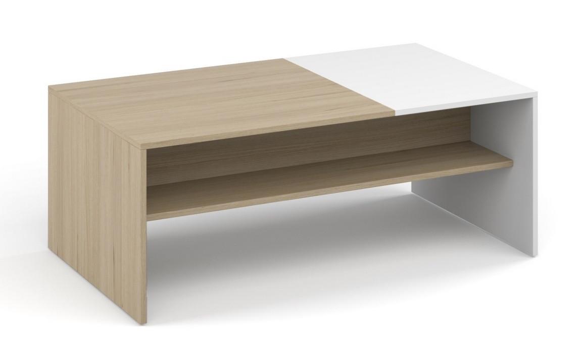 Casarredo Konferenční stolek MONACO sonoma/bílá