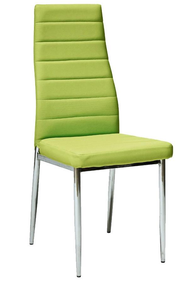 Casarredo Jídelní čalouněná židle HRON-261 zelená/chrom