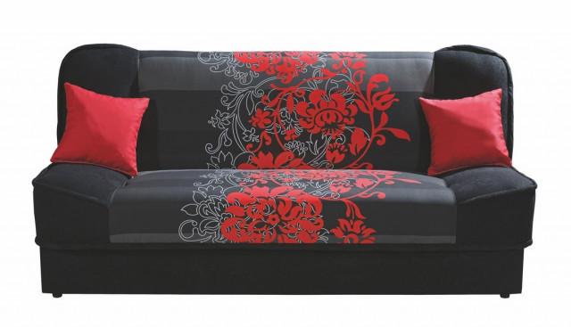 Rozkládací pohovka CORADO II s červenými květy