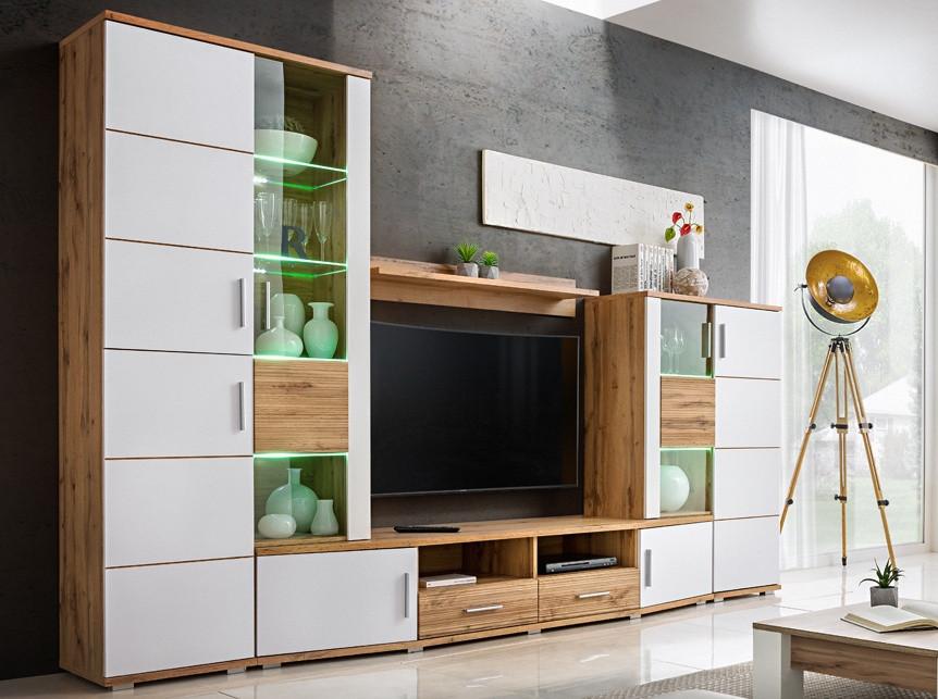 Casarredo Obývací stěna ELMA 2 dub wotan/bílá
