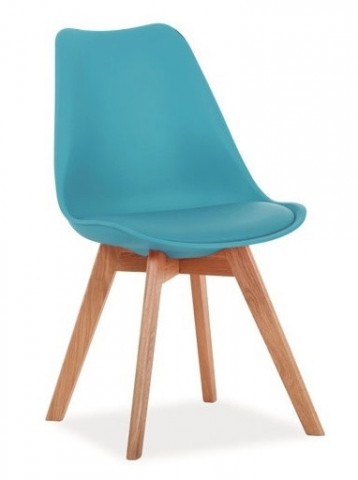 Jídelní židle KRIS modrá/dub
