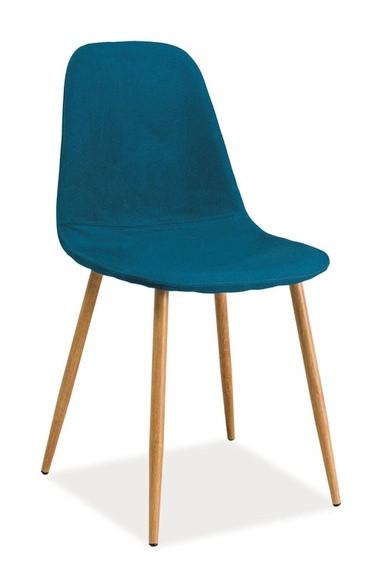 Casarredo Jídelní čalouněná židle FOX modrozelená