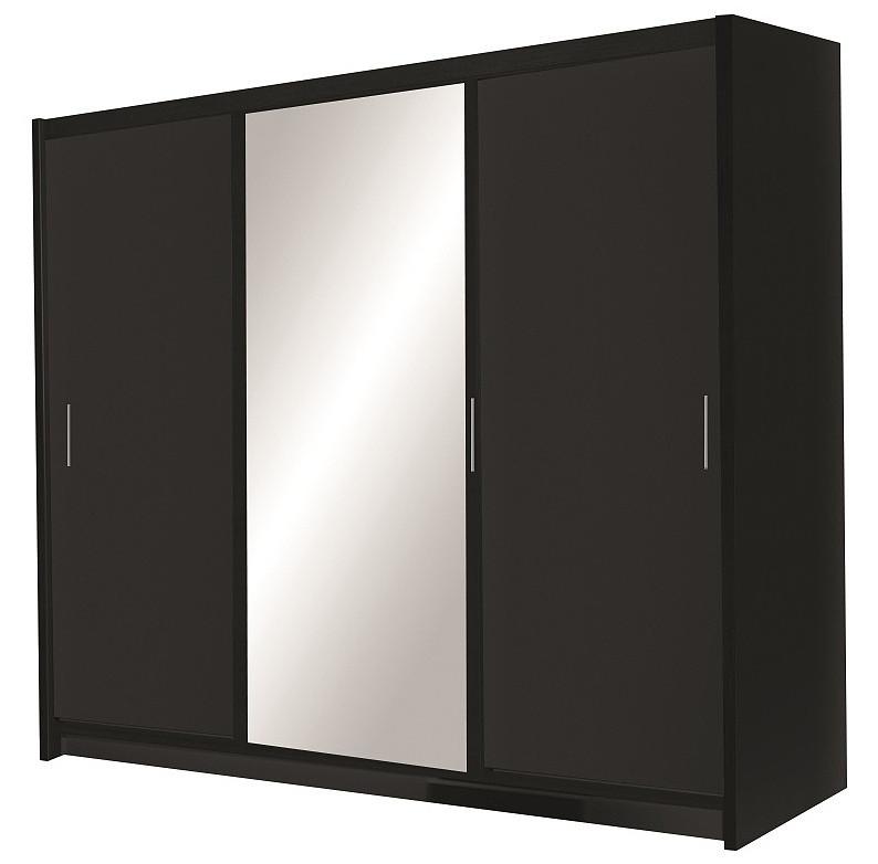 Casarredo Šatní skříň MONZA 250 černá
