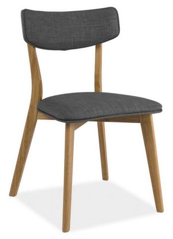 Jídelní čalouněná židle KARL šedá/dub