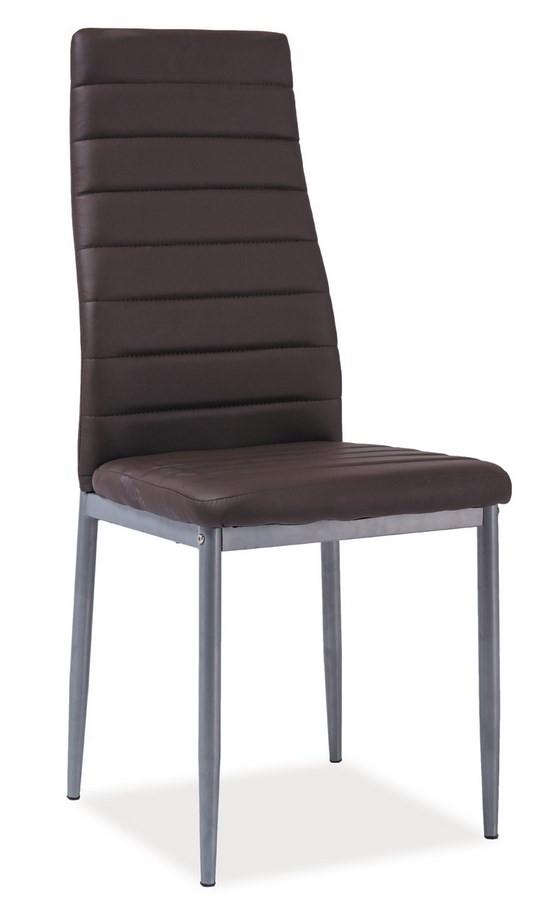 Casarredo Jídelní čalouněná židle H-261 Bis hnědá/alu
