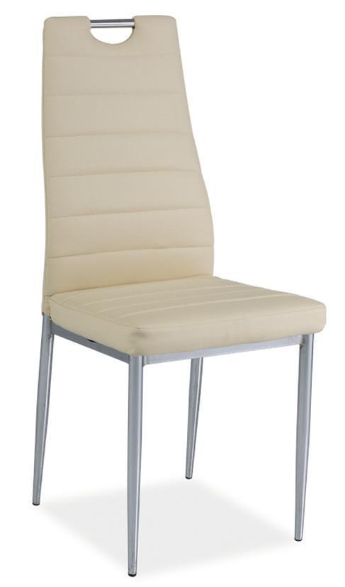 Casarredo Jídelní čalouněná židle H-260 krémová/chrom