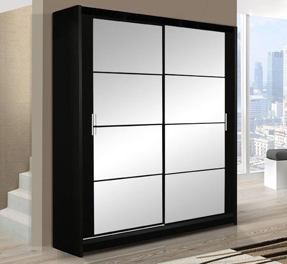 Casarredo Šatní skříň DAKOTA 160 černá