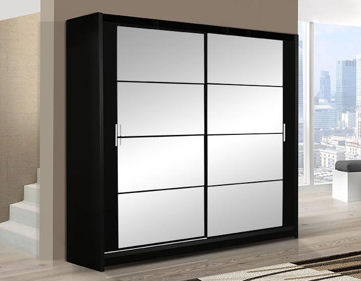 Casarredo Šatní skříň DAKOTA 203 černá