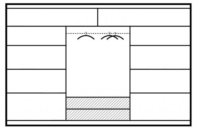 Šatní skříň BARCELONA 250 sonoma